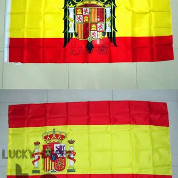 Spain E 90x150cm Spanish Eagle Flag 100% Polyester Flying Hanging Spain Flag Home Decorative National Flags and Banners of Spain