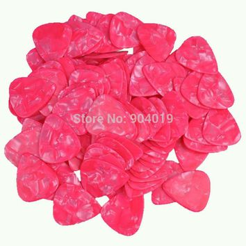 Lots of 100 pcs New Heavy 0.96mm Blank Guitar Picks Celluloid Pearl Pink