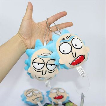 Rick And Morty Stuffed Plushy Keychain