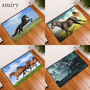 Autumn Fall welcome door mat doormat Smiry 40*60cm Wild Animals Waterproof Decorative Stair Mats Africa Horse Wecome Carpets Anti Slip Living Room Entrance  AT_76_7