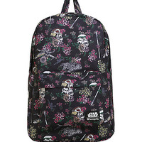 Loungefly Star Wars Helmet And Ships Floral Backpack