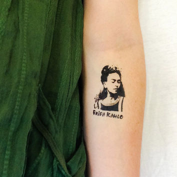 2 Frida Kahlo Temporary Tattoos- GeekTat - Stocking Stuffer