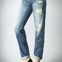Joey Boyfriend Jean - Destructed Light Wash