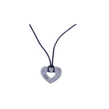 .925 Sterling Silver Rhodium Plated Heart Medallion Pendant Necklace 18 Inches