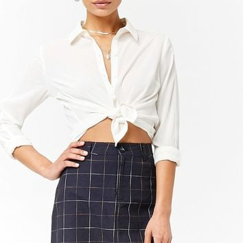 Grid Mini Skirt