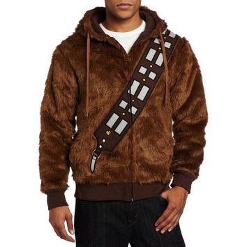 Star Wars Chewie Chewbacca Furry Costume Hoodie