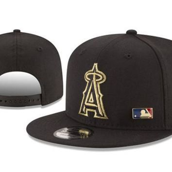 New Arrival New Era Black Cap MLB Baseball Fitted Hat-16