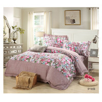 Bed Quilt Duvet Sheet Cover 4PC Set Upscale Cotton 100% 033