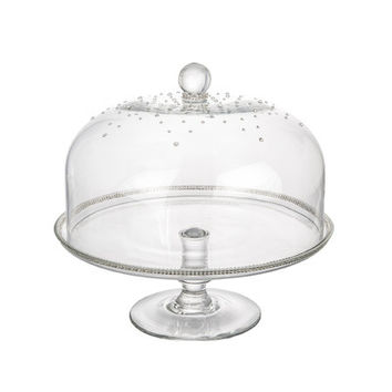 ClassicTouch Glass Dome Cake Stand