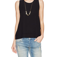 Scoopneck Tank Top with Macram Back