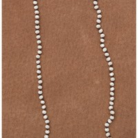 Pearl Sparkle Beaded Layering Necklace