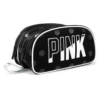 Double Zip Makeup Bag - PINK - Victoria's Secret