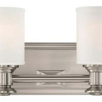Sibel 2-Light Bath Light, Nickel, Bath Bars