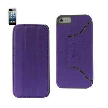 Reiko Fitting Case Iphone 5 Horse Skin Texture Purple
