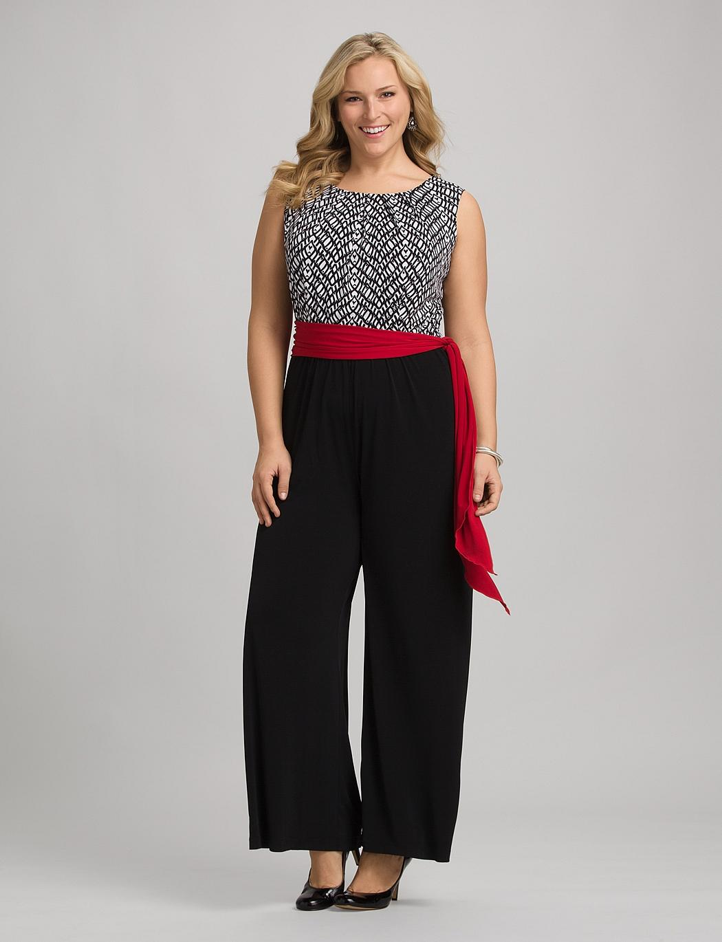 Plus Size Belted Jumpsuit From Dressbarn Com
