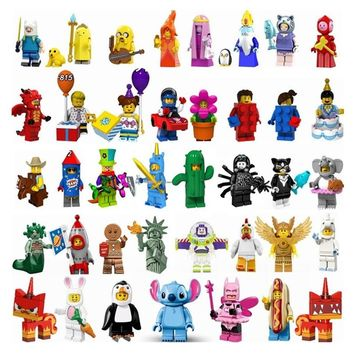 Legoing Adventure time Figures Cowboy Circus Troupe Clown Unicorn Boys Cute Figurines Toy Story Buzz Lightyear Legoing friends
