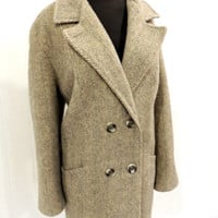 vintage grey wool pea coat - 1960s-70s JH wool coat