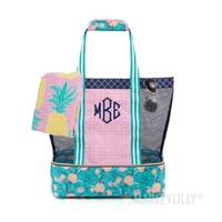 Monogrammed Beach Cooler Tote | Marleylilly