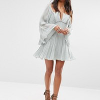 Free People Aquarius Dress with Pleats and Strapping Detail at asos.com