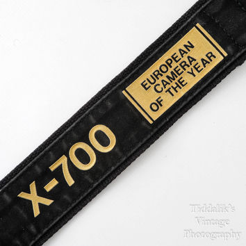 Vintage Minolta X-700 Wide Black Camera Strap European Camera of the Year Special Edition - Very Good Condition