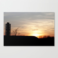 Sunset Silhouette 3 - View from the Mullins Center, Amherst, MA Stretched Canvas by Legends of Darkness Photography