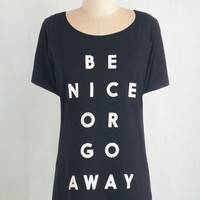 Sayings Mid-length Short Sleeves Keep Your Options Spoken Tee