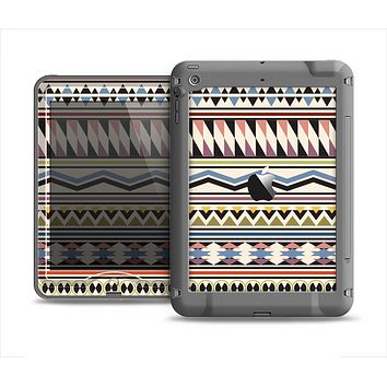The Tan & Color Aztec Pattern V32 Apple iPad Air LifeProof Nuud Case Skin Set