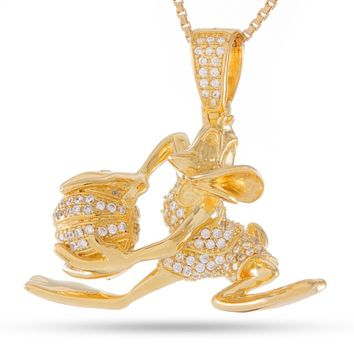 Space Jam x KING ICE - .925 Sterling Silver Daffy Duck Necklace