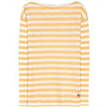 loro piana - portovenere striped linen-jersey top