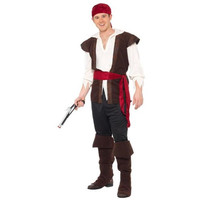 Smiffy's Mens Caribbean Pirate Halloween Party Pirate Costume