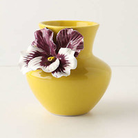 Pretty Pansy Vase by Anthropologie Yellow One Size Vases