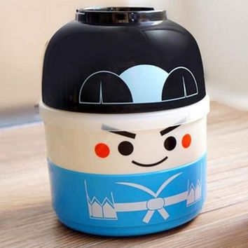 2018 Japanese Style Cartoon Sushi Box Student Lunch Box For Kids School Bento Food Container 850ml TC Kawaii