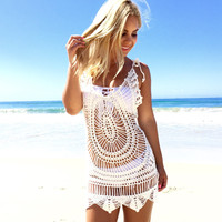 Sentiment Summer Knit Tank Top Cover Up