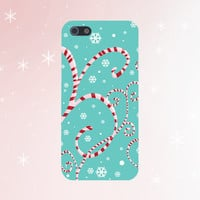 Twisted Christmas Candy Cane Design Case for iPhone 6 6 Plus iPhone 5 5s 5c iPhone 4 4s Samsung Galaxy s5 s4 & s3 and Note 4 3 2