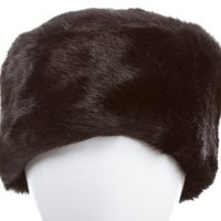 Amazon.com: Ladies Black Faux Fur Cossack Style Warm Winter Hat Fits up to 57cm By Satsumauk: Clothing