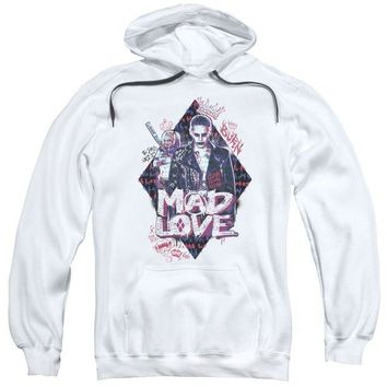ac spbest Suicide Squad - Mad Love Adult Pull Over Hoodie