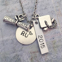 Custom School Graduation Necklace - College Graduate Jewelry - High School Graduate Jewelry - Graduation Jewelry - School Jewelry - Graduate