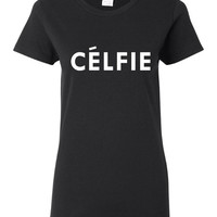 Hilarious As Seen On TV Selfie T Shirt Great Selfic Celfie Graphic Shirt 20 Styles & Colors To Select from Selfie Queens Love This Tee