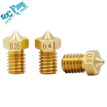 5PCS Copper Nozzle 0.2 0.25 0.3 0.35 0.4mm 0.5 0.6 0.8 1.0 Part 1.75mm Filament M6 Threaded For Ultimaker V5 V6 3D Printer Parts