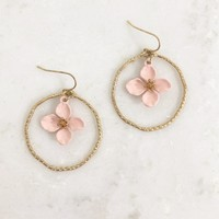 Ring Around The Lily Gold Earrings