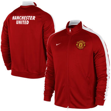 Manchester United FC Nike 2014/15 N98 Authentic Full Zip Track Jacket – Red - http://www.shareasale.com/m-pr.cfm?merchantID=7124&userID=1042934&productID=544545574 / Manchester United FC