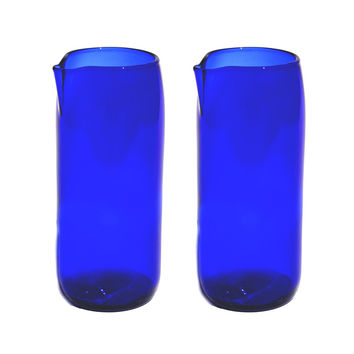 So into this design on Fab! Flat Bottom Carafe Pair Blue #FabForAll