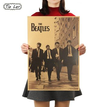 TIE LER Celebrity Retro Nostalgia Old Posters Bar Decorative Wall Stickers Painting 51X35.5cm