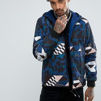Versace Jeans Windbreaker Jacket In Black With Tiger Print at asos.com