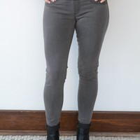 Best Friend Pull-On Jeans - Charcoal