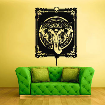 Wall Vinyl Sticker Decals Decor Art Bedroom Design Elephant Skull Animal Poster (z2341)