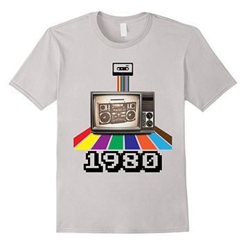 Retro Style 1980 80s t-shirt Birthday Men Women