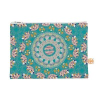 """Kess InHouse Everything Bag Flat Pouch by Miranda Mol 8.5 x 6 Inches """"Luscious"""" Blue Pink (MM4092AEP01)"""