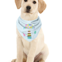 Happy Birthday Dog Bandana - Birthday bandana - Dog Birthday Scarf - made in Chicago - bandana for dogs - Chicago pet products