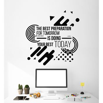 Vinyl Wall Decal Motivation Phrase Working Space Work Office Style Stickers Mural (g2686)